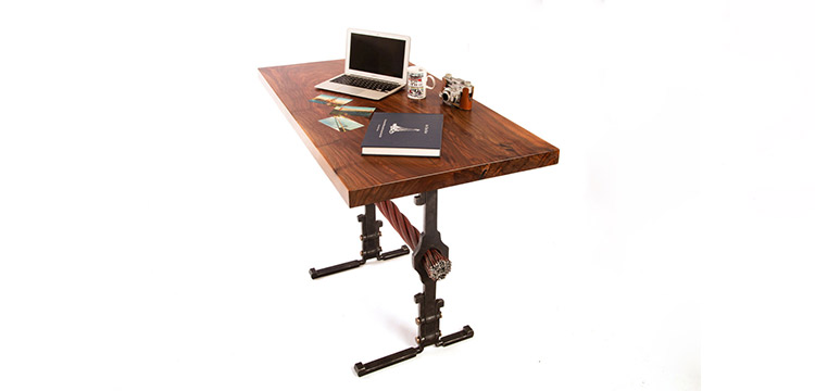 Strands of History Tamalpais furniture stand-up executive entrepreneur desk